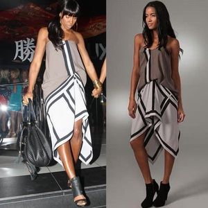 BCBGMAXAZRIA Runway Geometric Colorblock Dress 0
